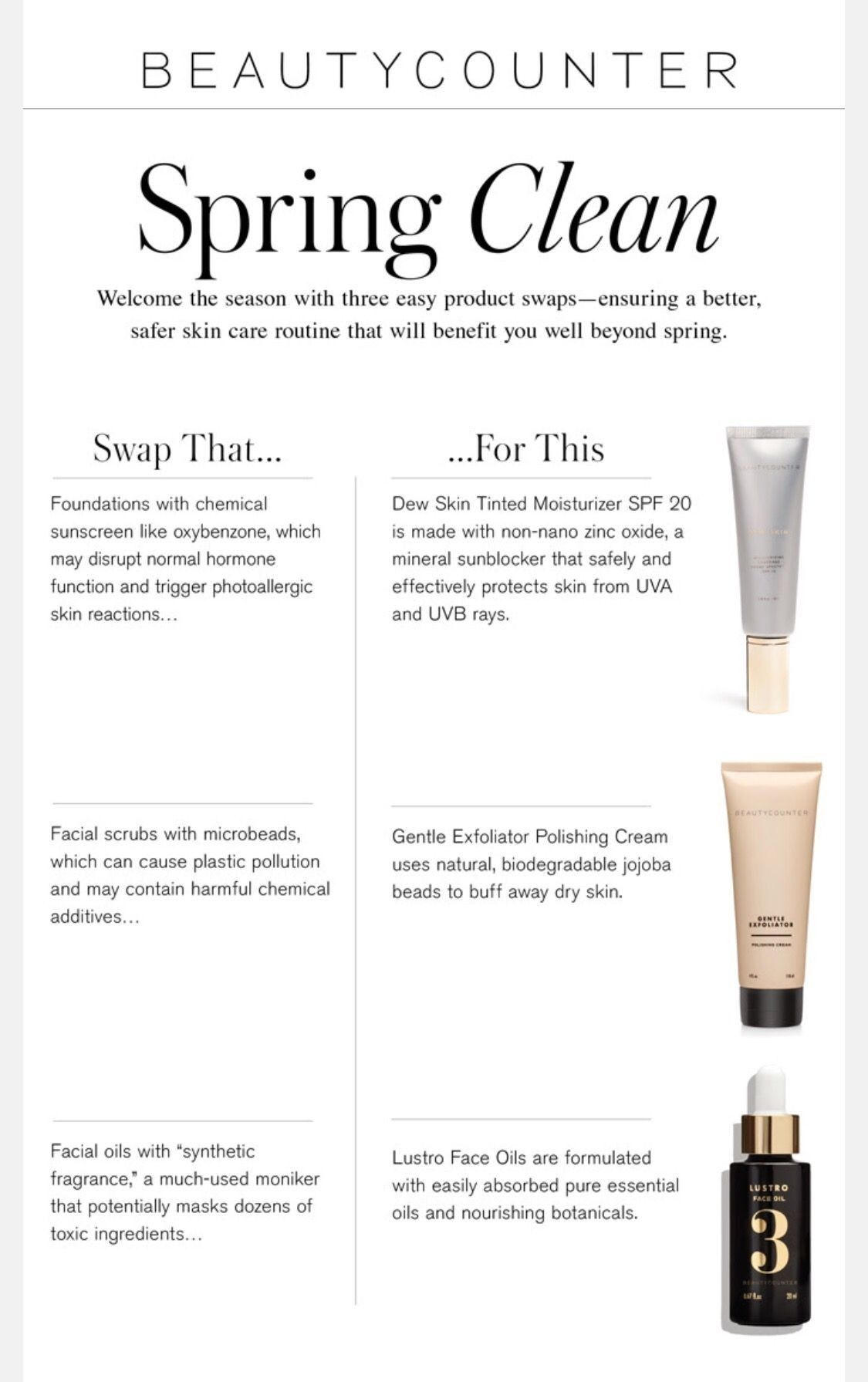 Make the clean swap today. beautycounter betterbeauty