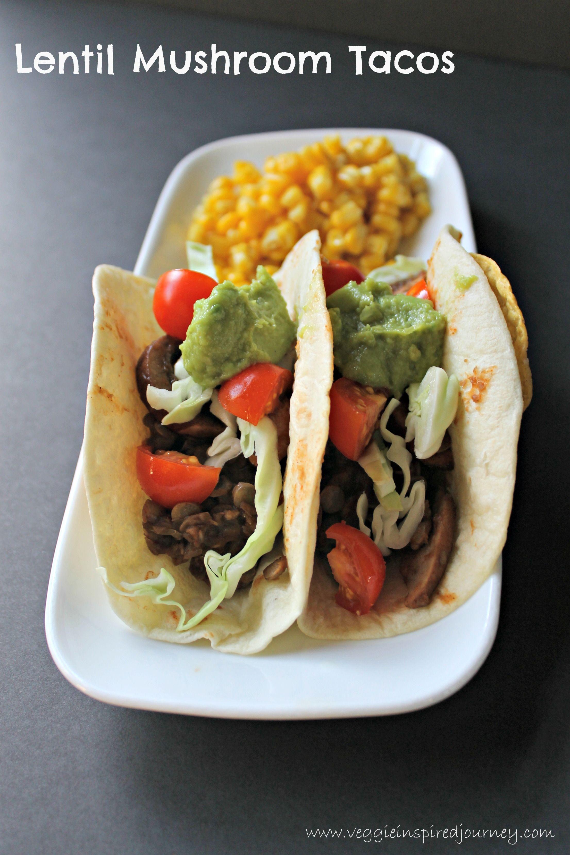 Lentil Mushroom Tacos