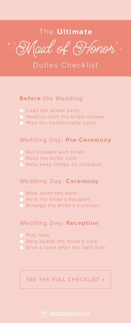 The Ultimate Maid Of Honor Duties Checklist From Before