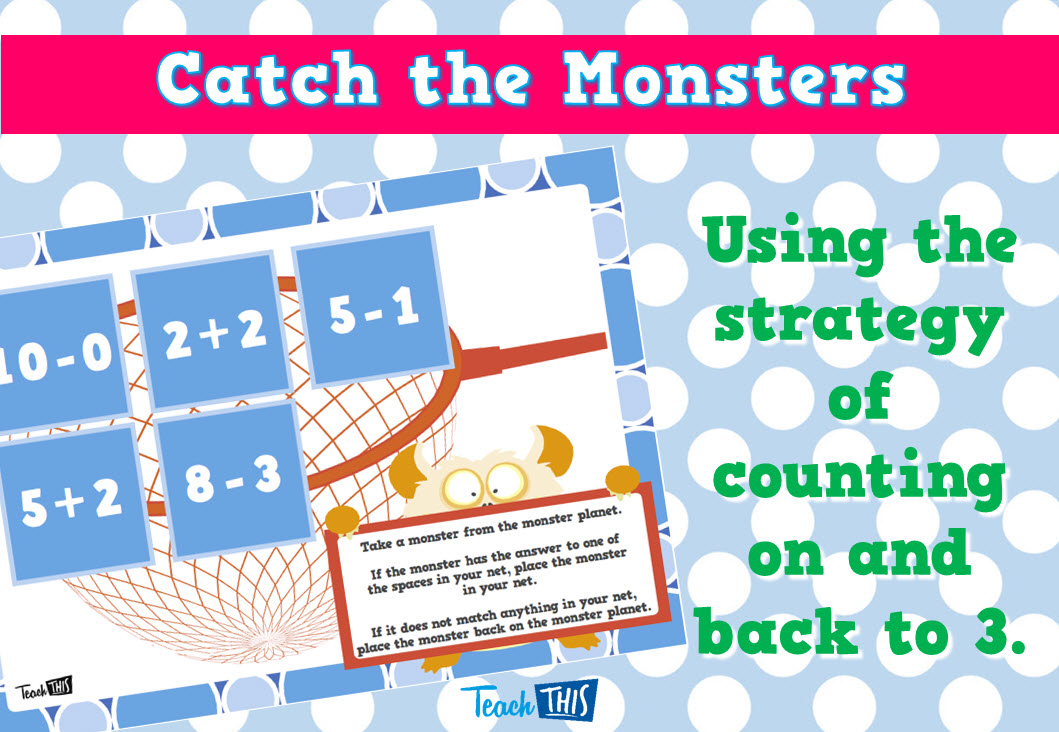 Catch the Monsters - Counting on and back to 3