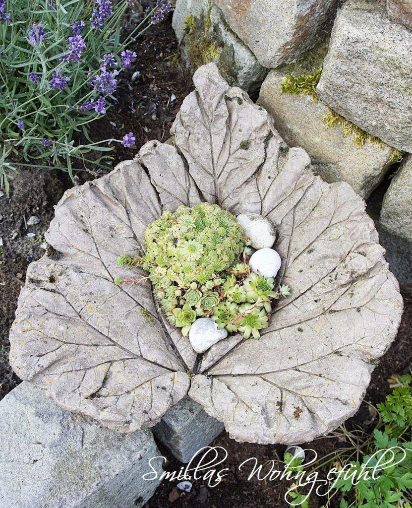 DIY: concrete leaves / Blätter aus Zement - Smillas Wohngefühl