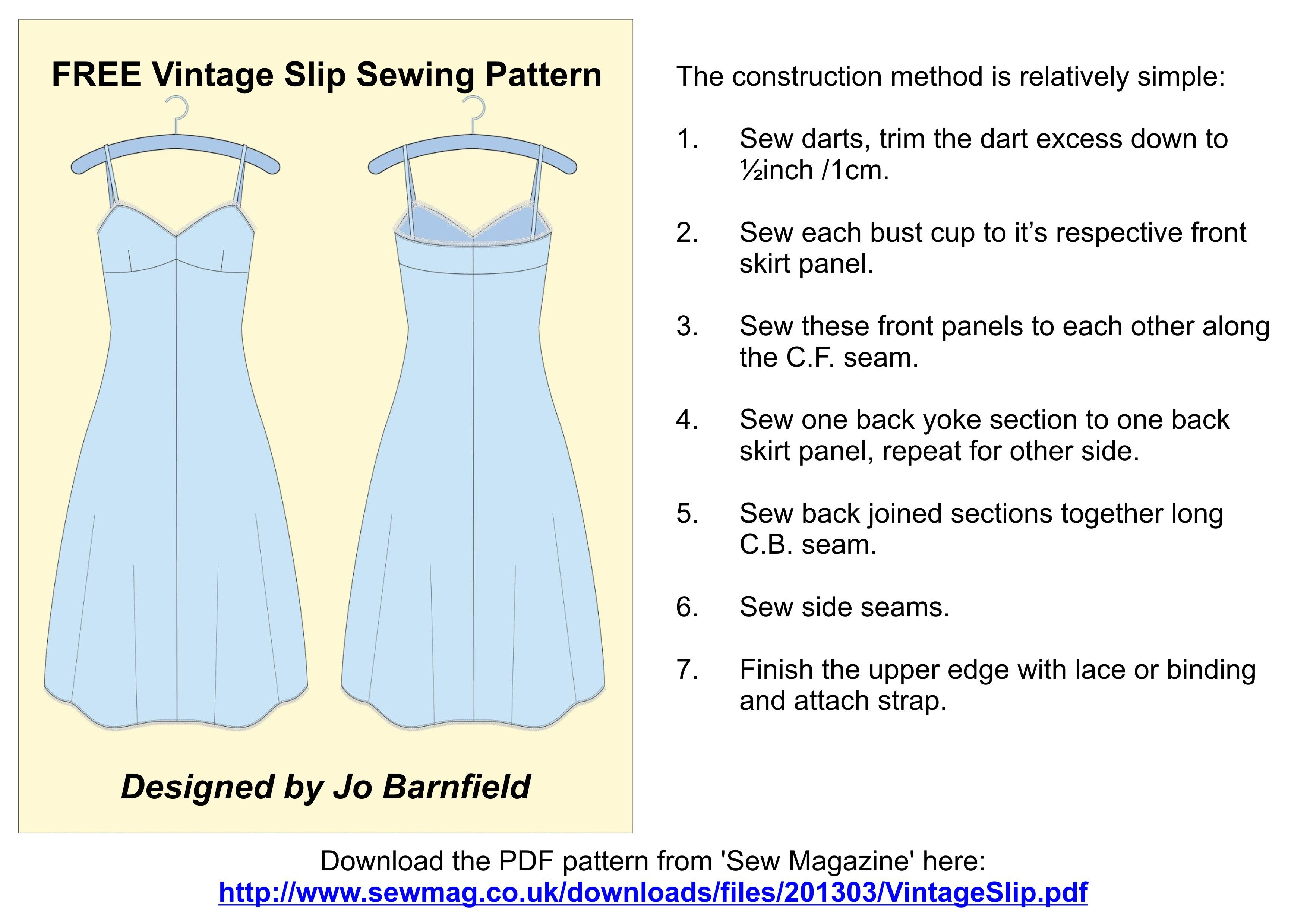Colorful Free Vintage Sewing Patterns Download