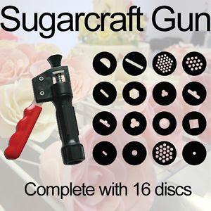 Sugarcraft Gun Extruder Craft Gun 16 Discs Cake ...