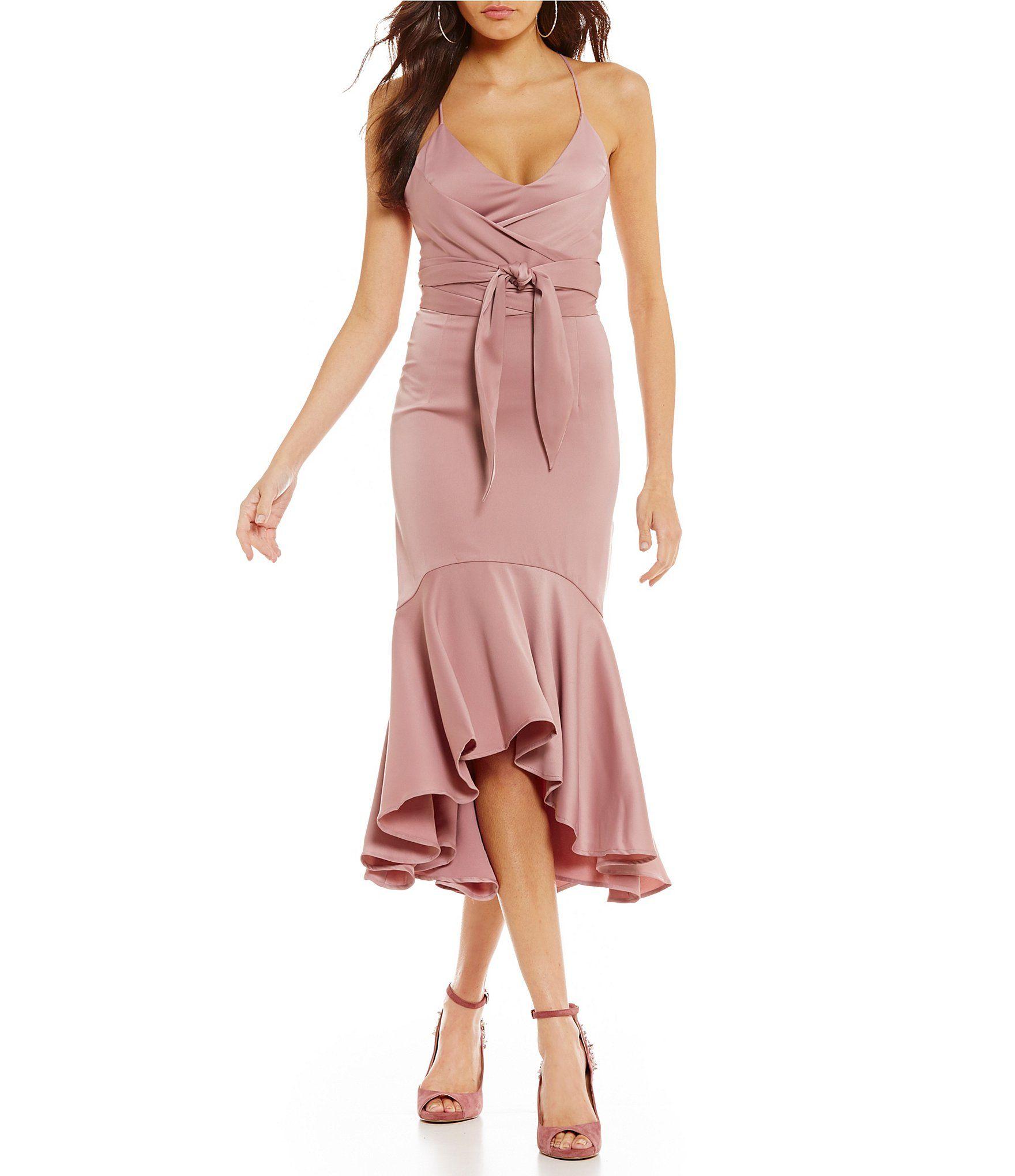 Gianni Bini Melinda Satin Wrap Dress #Dillards | Fashion - Spring ...