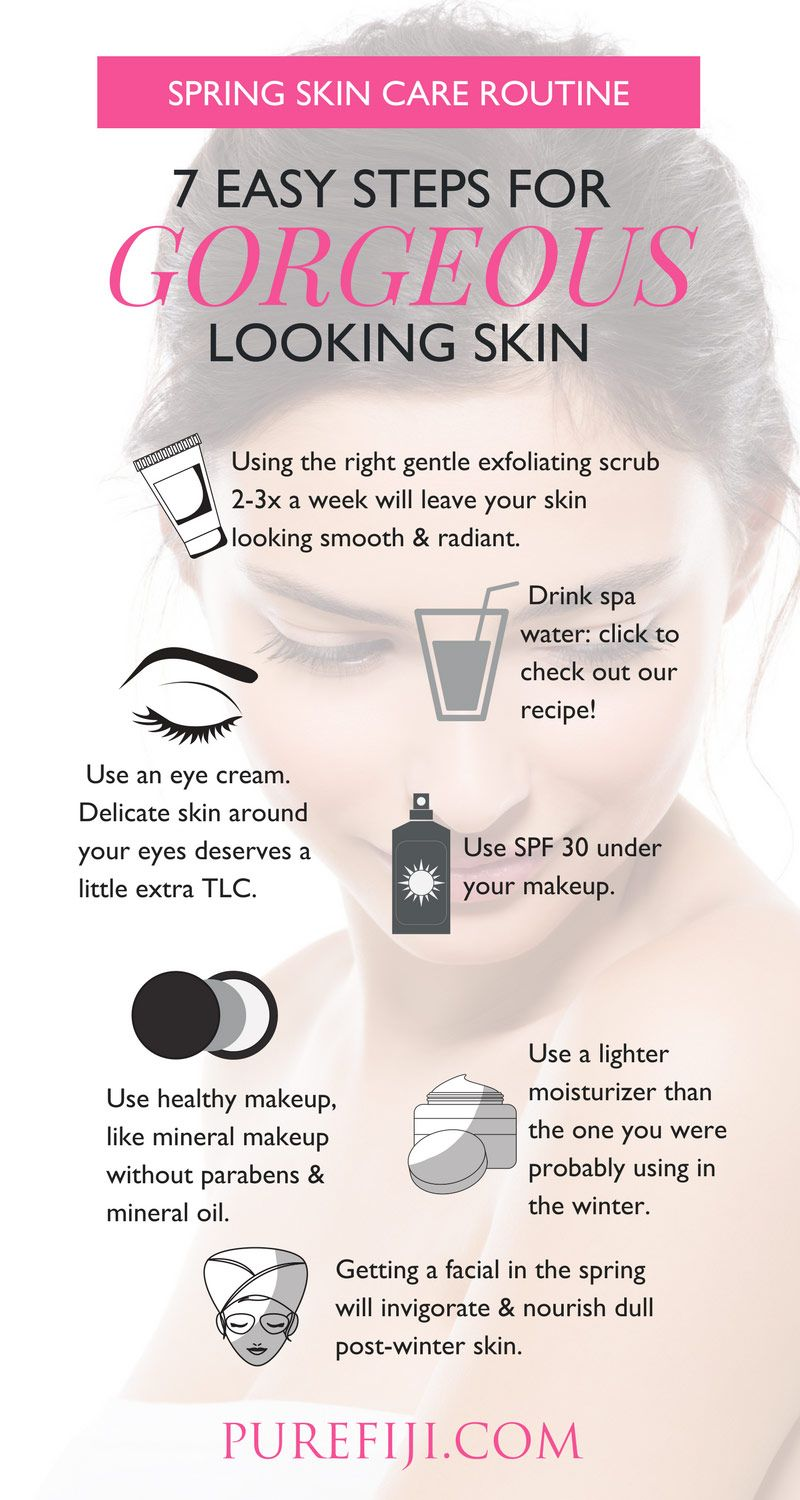 Spring Skin Care Routine 7 Easy Steps For Gorgeous Looking Skin Spring Skin Care Natural Skin Moisturizer Spring Skin