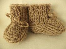 Babyschuhe gestrickt Gr. 74/80 Schuhe Wolle Socken