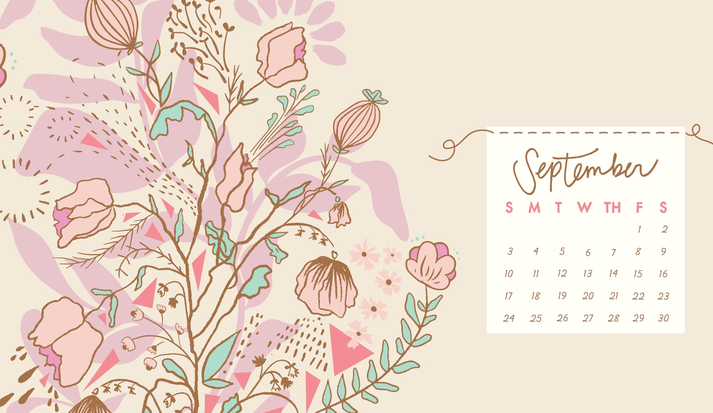 September 2019 Calendar Desktop Wallpaper Desktop Calendar Calendar Background September Calendar