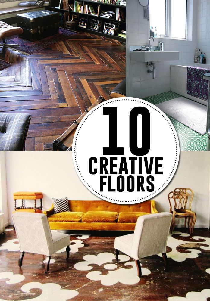 10 creative diy flooring ideas diy tutorials for your for Unusual inexpensive flooring ideas