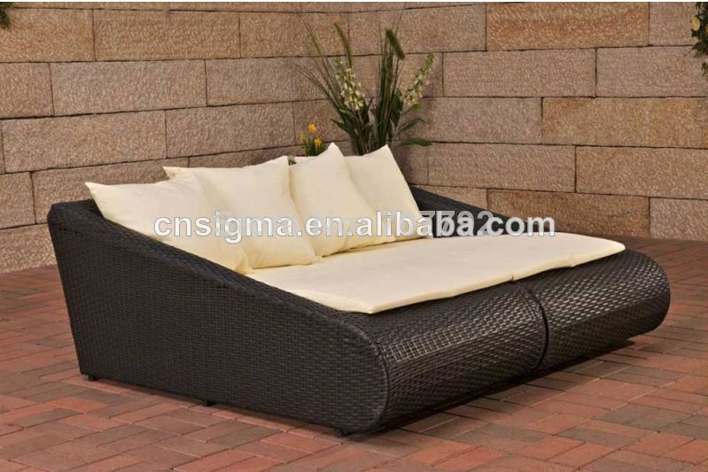 Rotan Rieten Stoelen On Aliexpress Com From 545 0 Sun Lounger Double Sofa Bed Bed