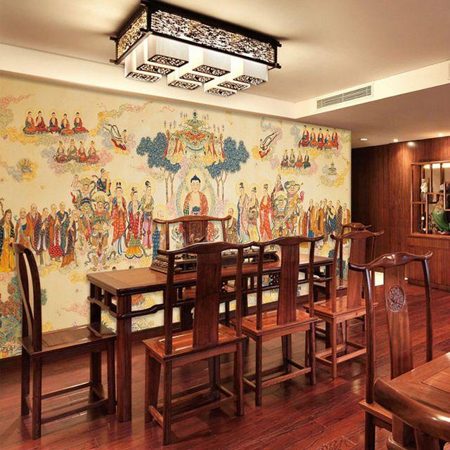Buddha Photo wallpaper Religion Wallpaper Custom 3D Wall Mural