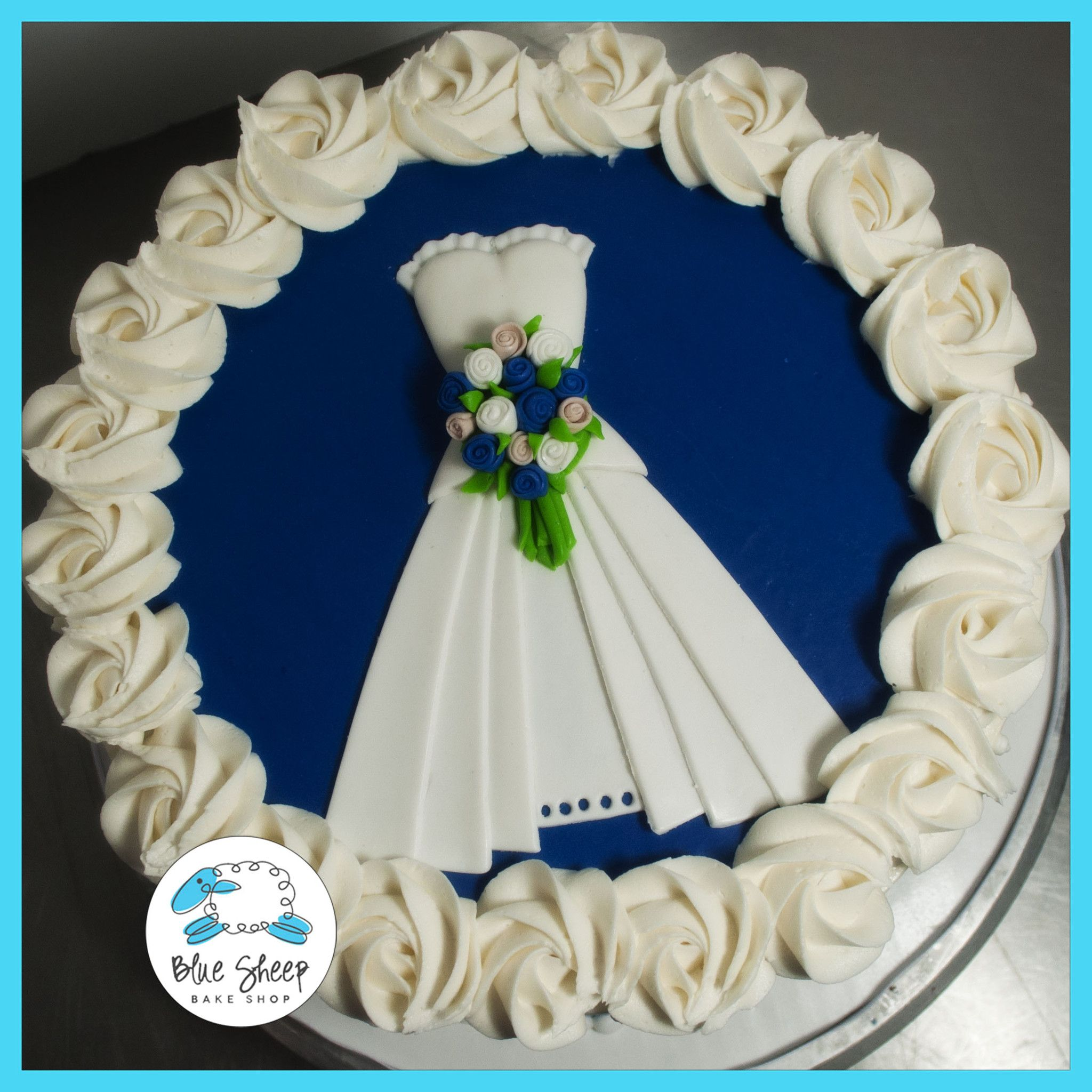 Wedding decorations royal blue  fondant wedding dress cake topper nj  Bridal shower ideas