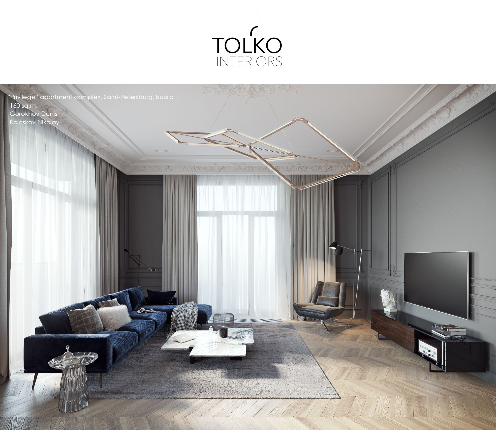 Affordable Luxury Apartments: TOL'KO / Luxurious Apartment At Krestovskiy Island