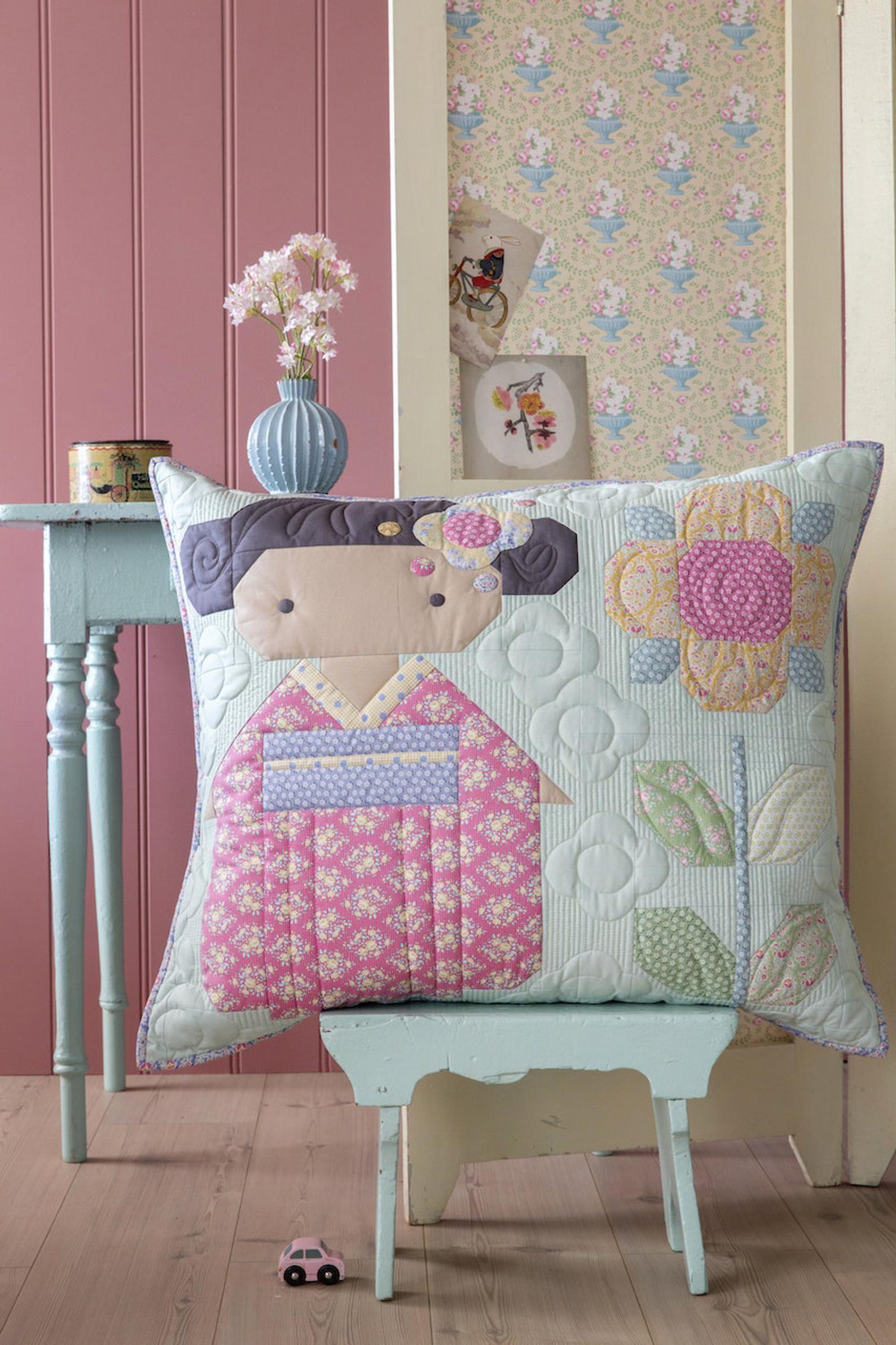 TILDA KIMONO GIRLS Pillow in Soft Teal Kit Tilda Happy   Etsy ...