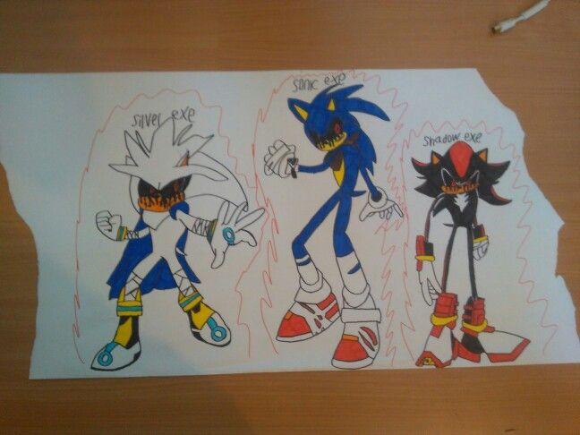 Silver Exe Sonic Exe Shadow Exe Drawings Art Ally