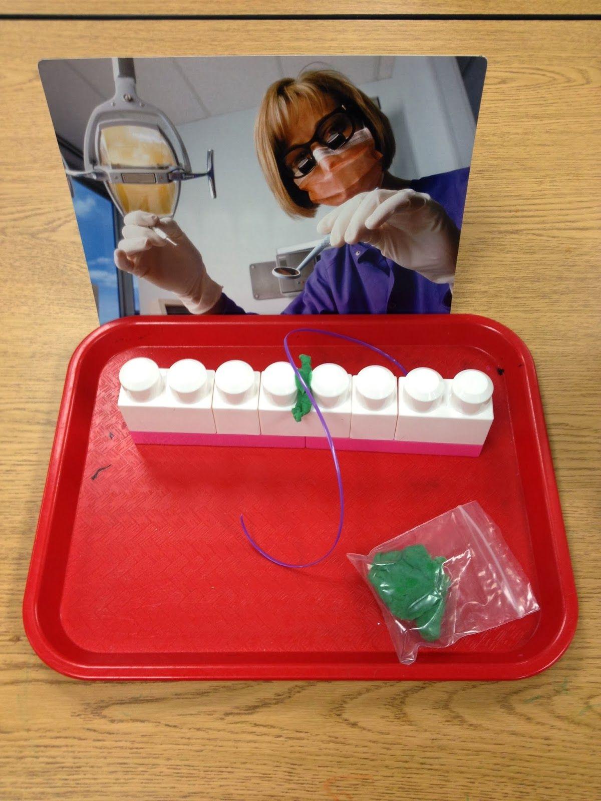 Dental Health In Preschool Flossing Teeth Made Out Of