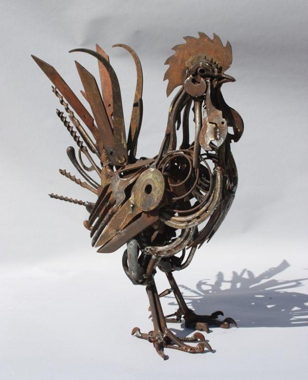 Domestic Animals Metal Art Sculpture Metal Art Welded Scrap Metal Art