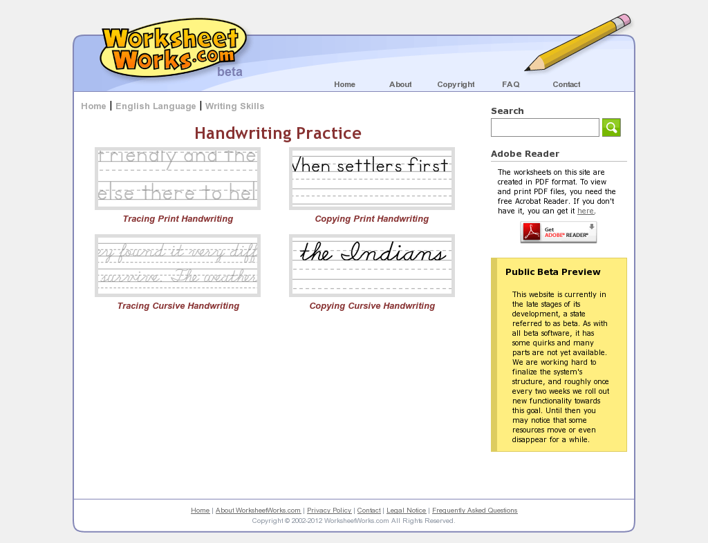 Website Worksheetworks English Writing