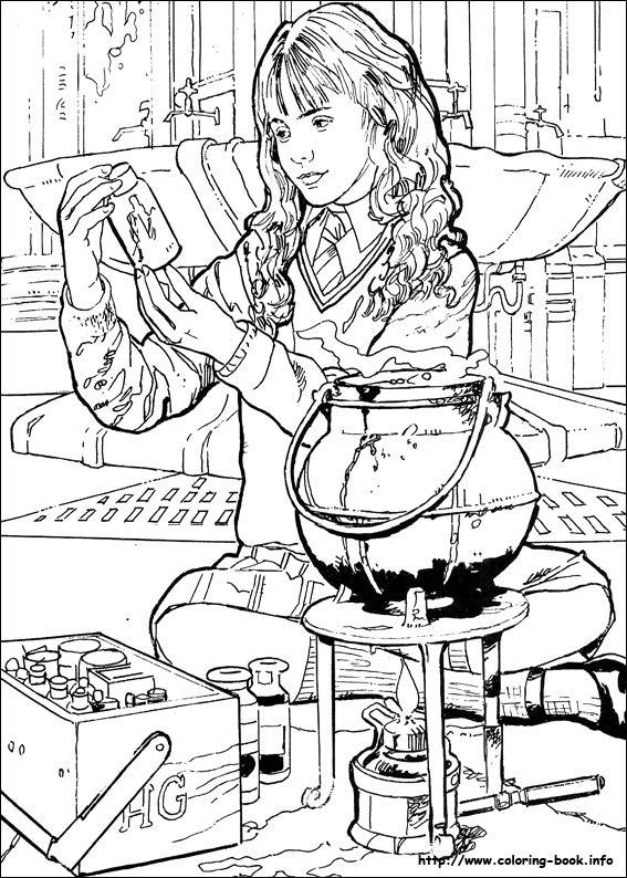 Harry Potter Coloring Picture Coloring Harry Potter Coloring