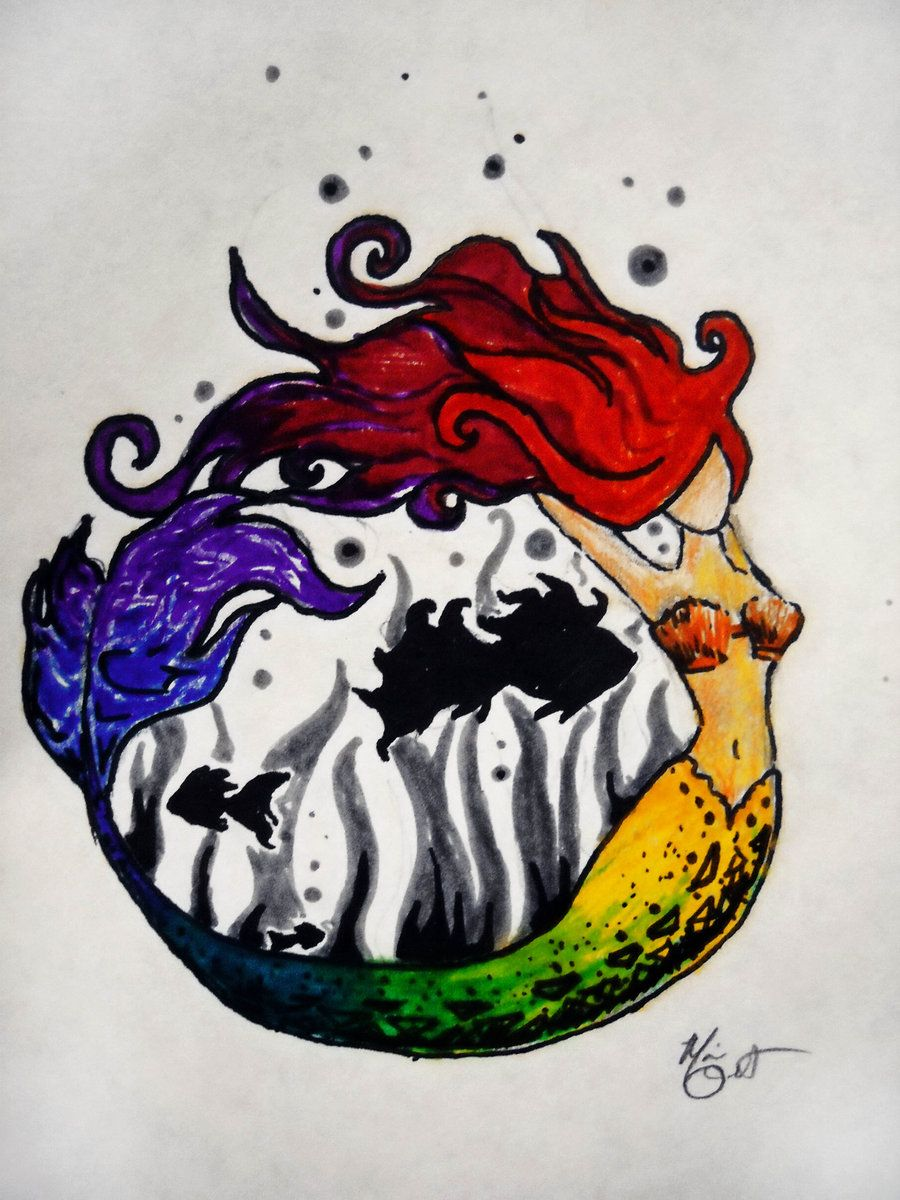 Mermaid Color Wheel By Maria The Freakdeviantart On
