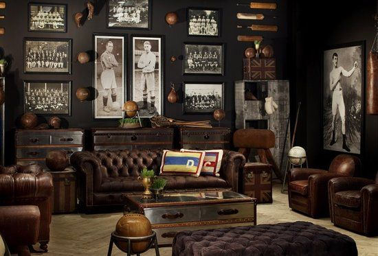 Classy Man Cave Furniture : Vintage inspired sports man cave find more great product to fill