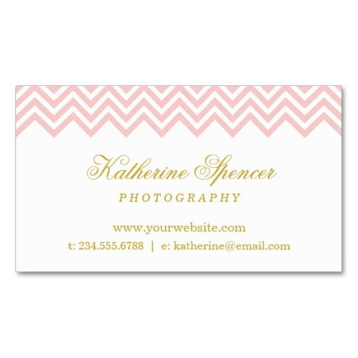 Girly modern preppy chic business card template design with trendy ...