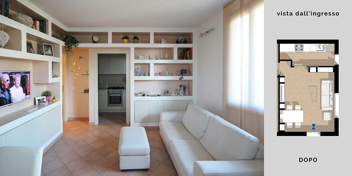 Arredare il soggiorno con cartongesso e legno in un disegno su ...