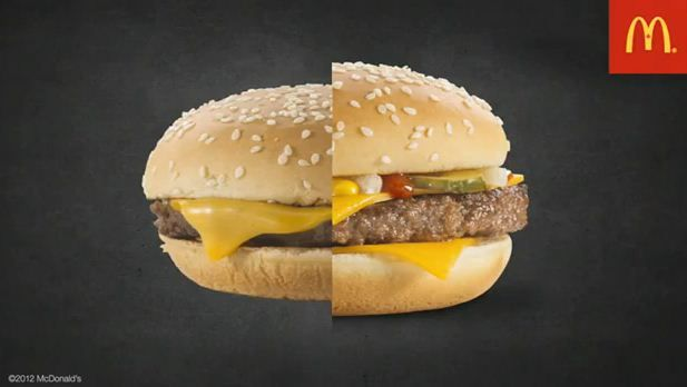 Mcdonalds Burger Ads Vs Real Life This Is Why Mcdonald S Burgers Look Better In Ads Real Burger Fast Food Advertising Burger