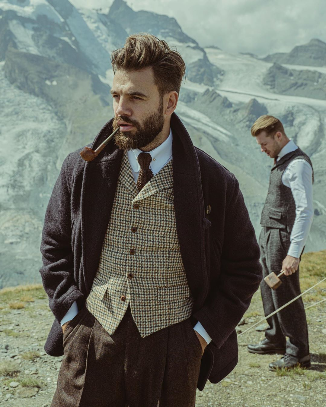 The Thomas Farthing Alpine Winter Collection Is Now Available Online And In Store No 40 Museum St London Www Thom Dapper Men Mens Fashion Suits Mens Outfits [ 1350 x 1080 Pixel ]