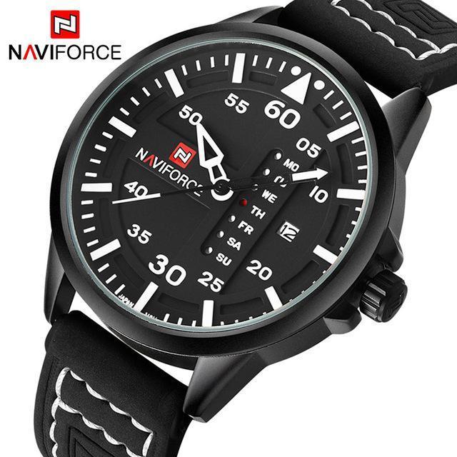 a152b13b69a Naviforce Luxury Brand Men Army Military Watches Men S Quartz Date Clock  Man Leather Strap Sports