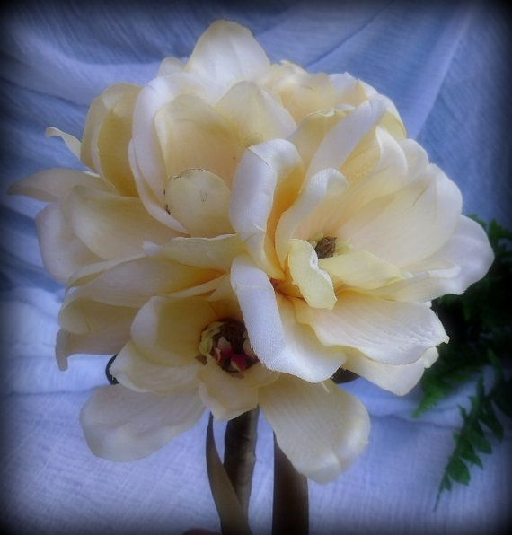 Magnolia Wedding Bouquet by willowroaddesigns on Etsy, $30.00