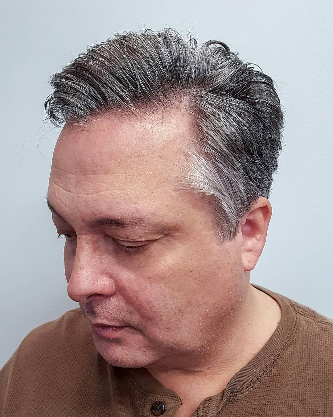 mens haircut, older mens haircut, gray haircut, 50 year old