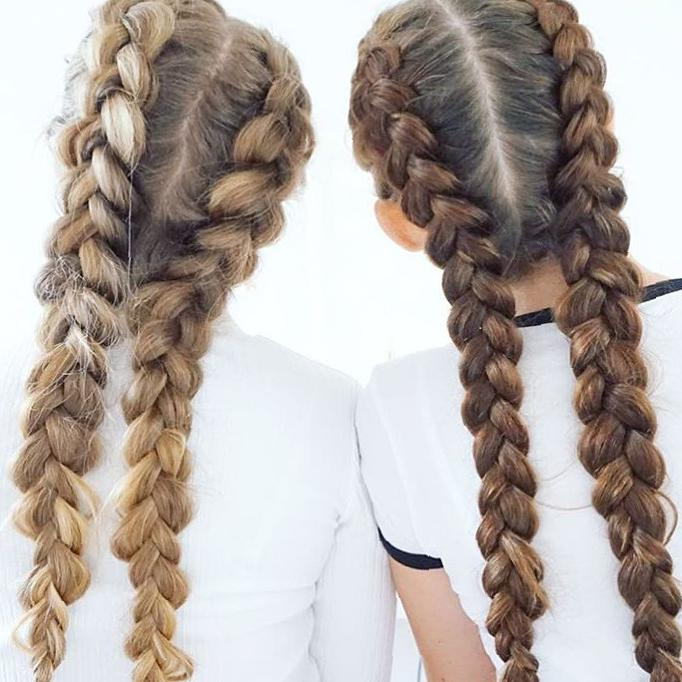 50 Trendy Double Braid Hairstyle Ideas To Keep You Cool Molitsy Blog In 2020 Plaits Hairstyles Hair Styles Braided Hairstyles