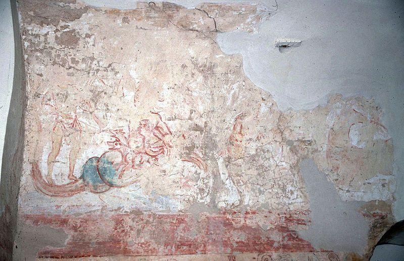 Odysseus Facing Scylla And Charybdis Carolingian Fresco In