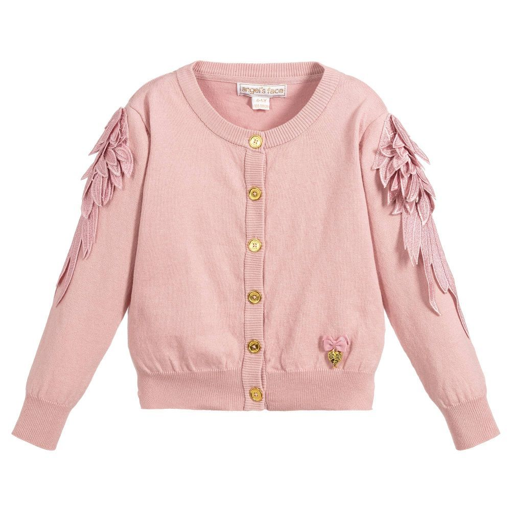 64656d3c3b01 Angel s Face - Girls Pink Cotton Cardigan