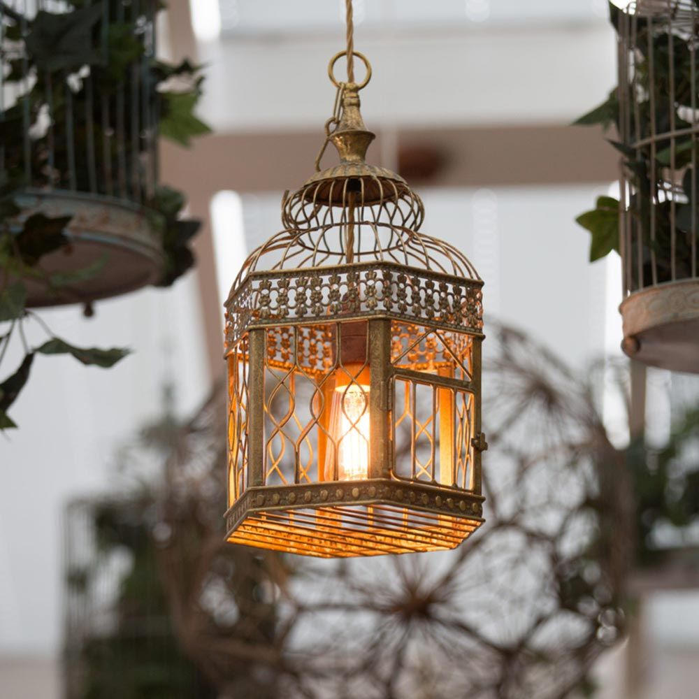 Birdcage pendant light clb 00530 e2 contract lighting bespoke birdcage pendant light clb 00530 e2 contract lighting bespoke white rustic birdcage aloadofball Image collections