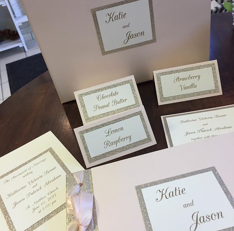 Gorgeous blush and gold combination to match the wedding invitation
