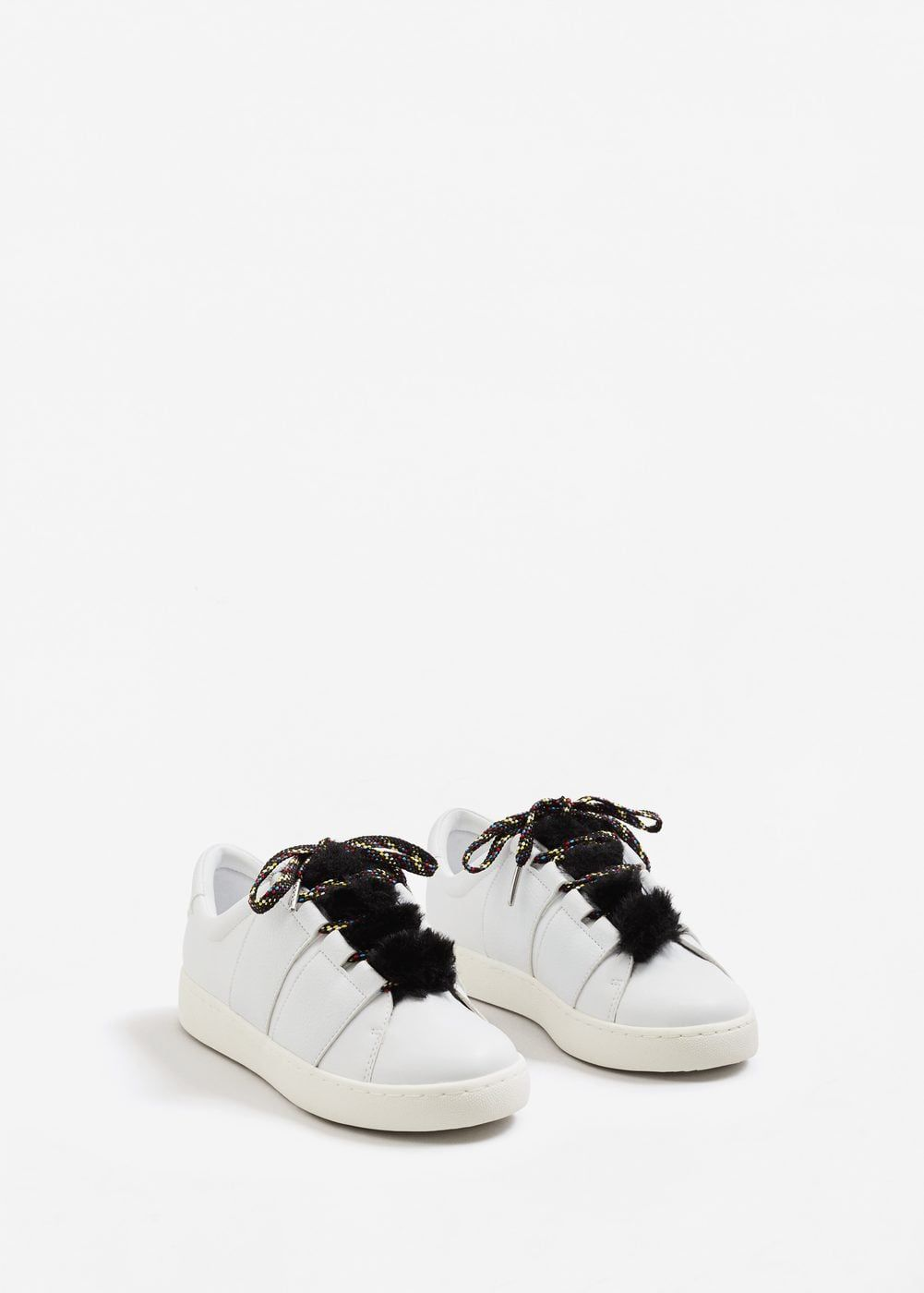 Fur lace up sneakers Woman   Sneakers, Shoes, High top