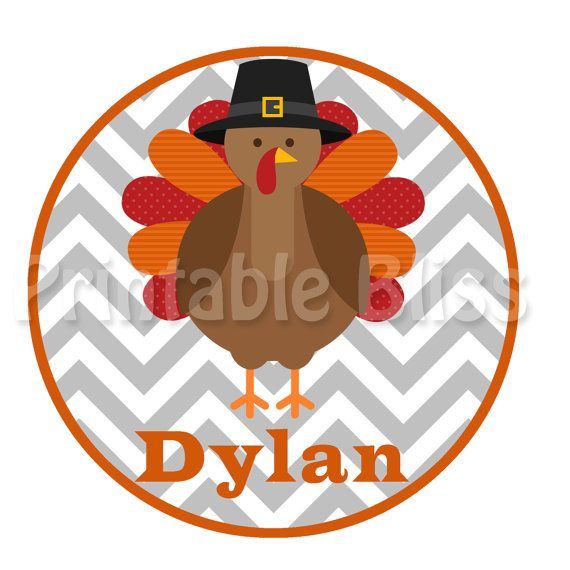 Personalized Shirt Thanksgiving  Turkey Grey by PrintableBliss, $9.99
