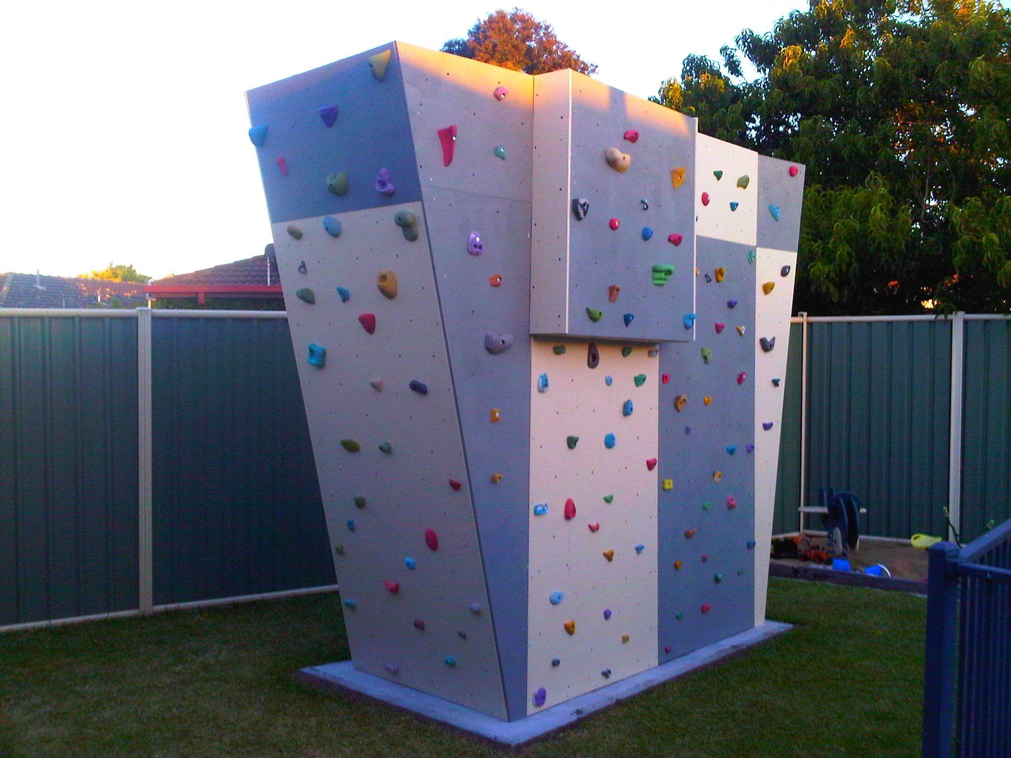 Outside, Exterior Home Climbing Walls | Diy climbing wall ...