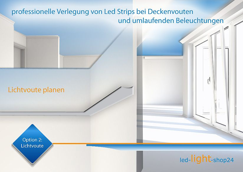 Deckenbeleuchtung Lichtvoute in Led  Projekte  LED Led