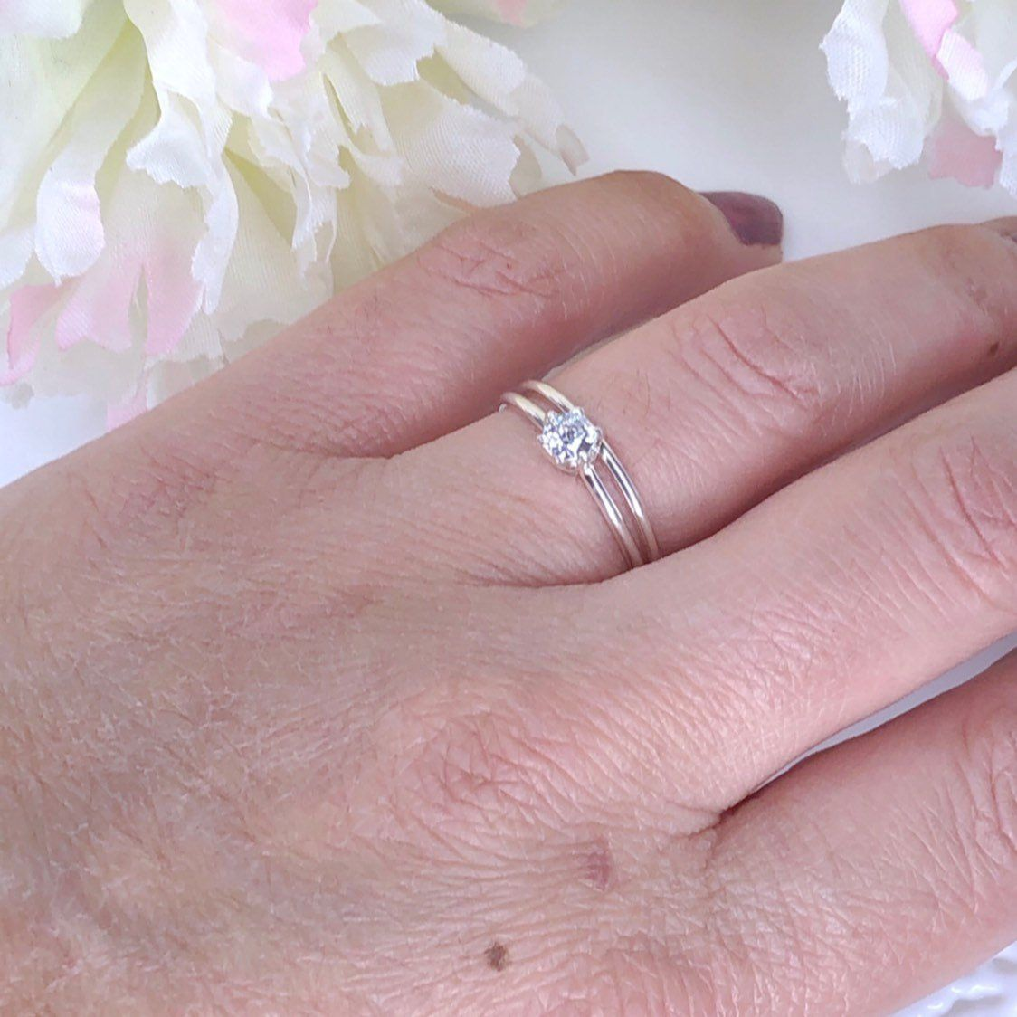 Engagement Ring Wedding Ring Lady Engagement Ring Infinity Ring