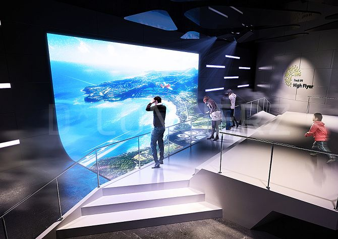 D Hologram Exhibition : Client redrover cg detail design d concierz competition