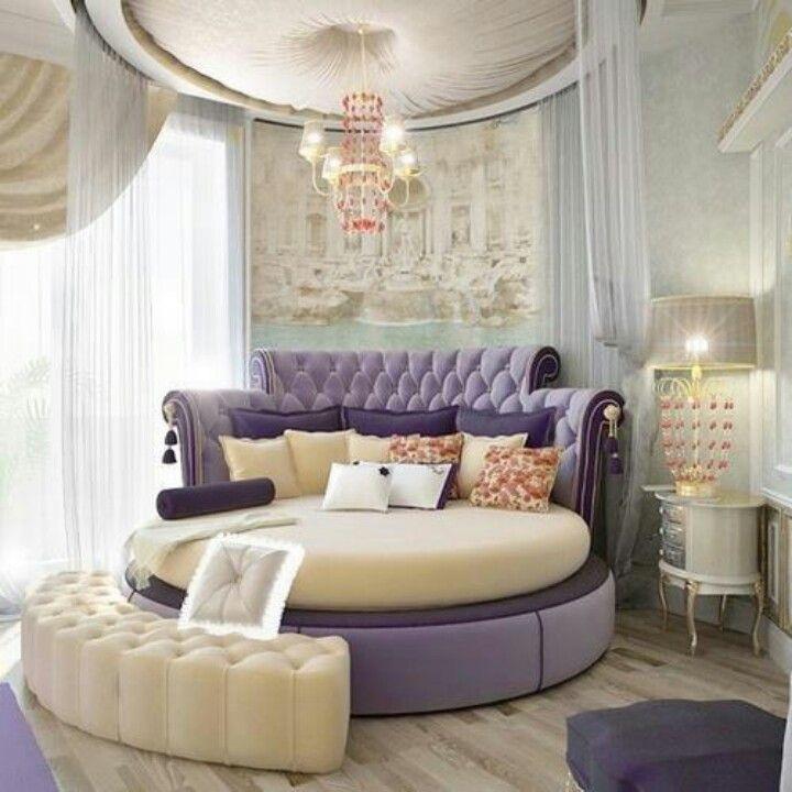 Stylish round bed