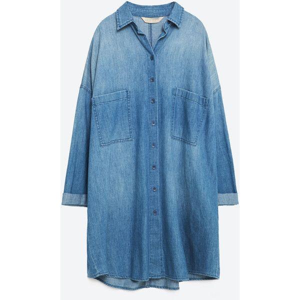 Zara Oversized Denim Shirt | Oversized denim shirt, Zara shirt ...