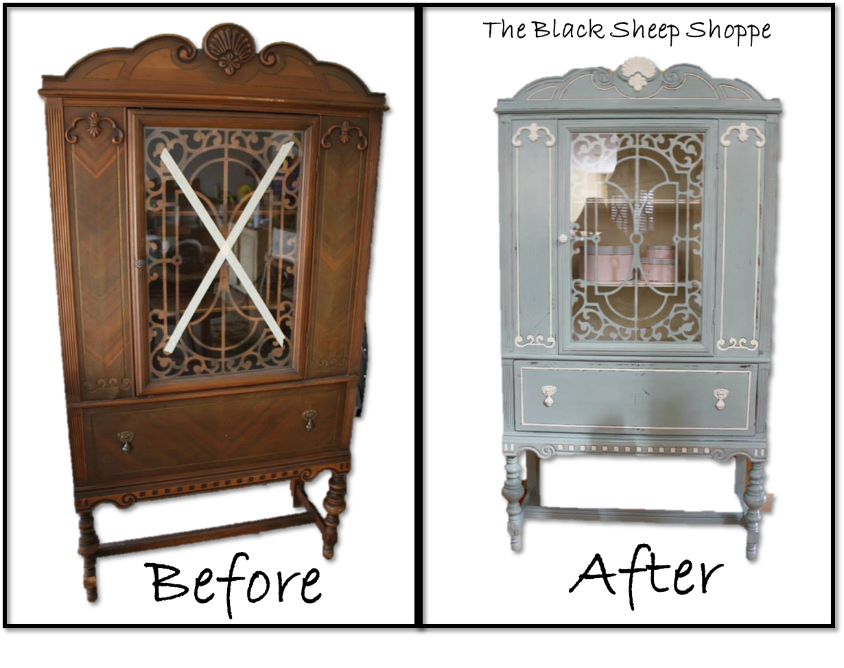 Painted Antique China Cabinet - Painted Antique China Cabinet Antique Furniture