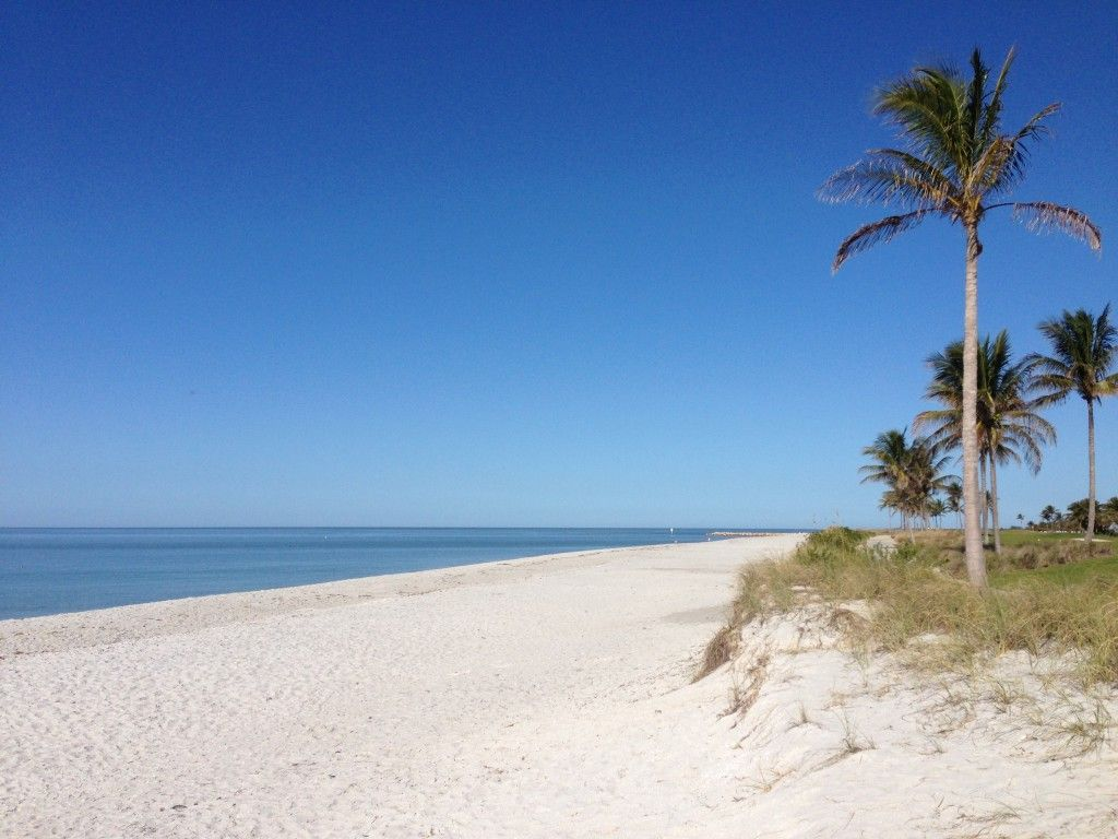 Deserted Beach at the the South Seas Island Resort on Captiva Island, Florida