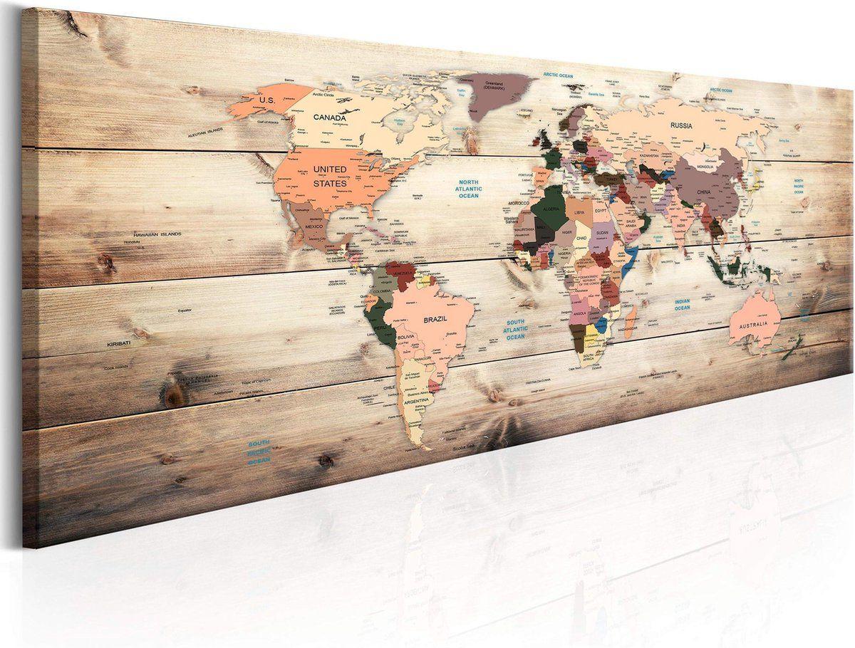 Artgeist World Maps Map Of Dreams Canvas Schilderij In 2021 Schilderij Canvas Canvas Schilderij