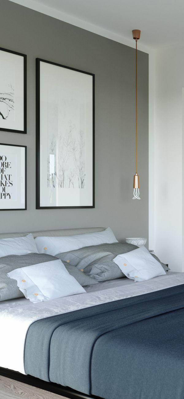 Grau in weiß. Hier vereinen sich zwei Trendfarben. #Schlafzimmer ...