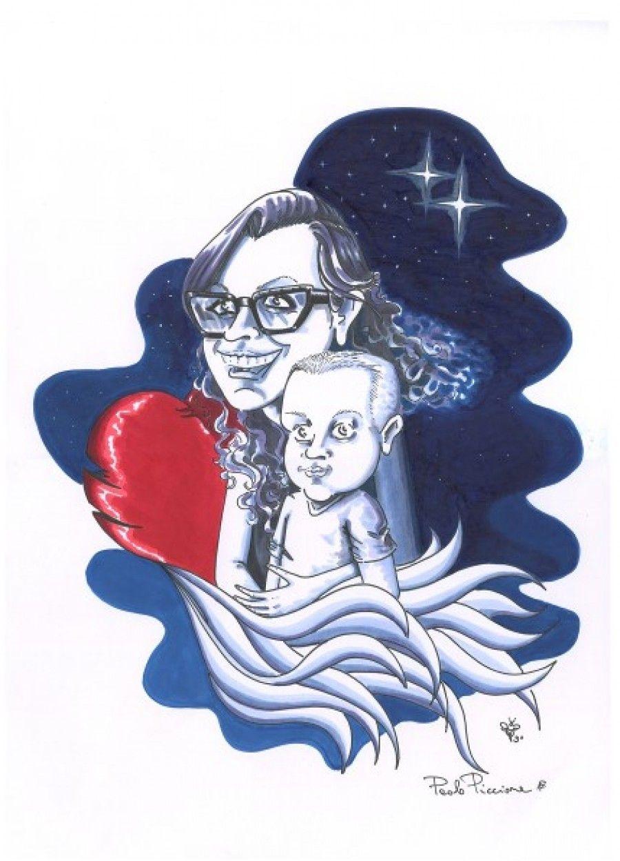 Paolo Piccione - Un vignetta per Federica e Andrea
