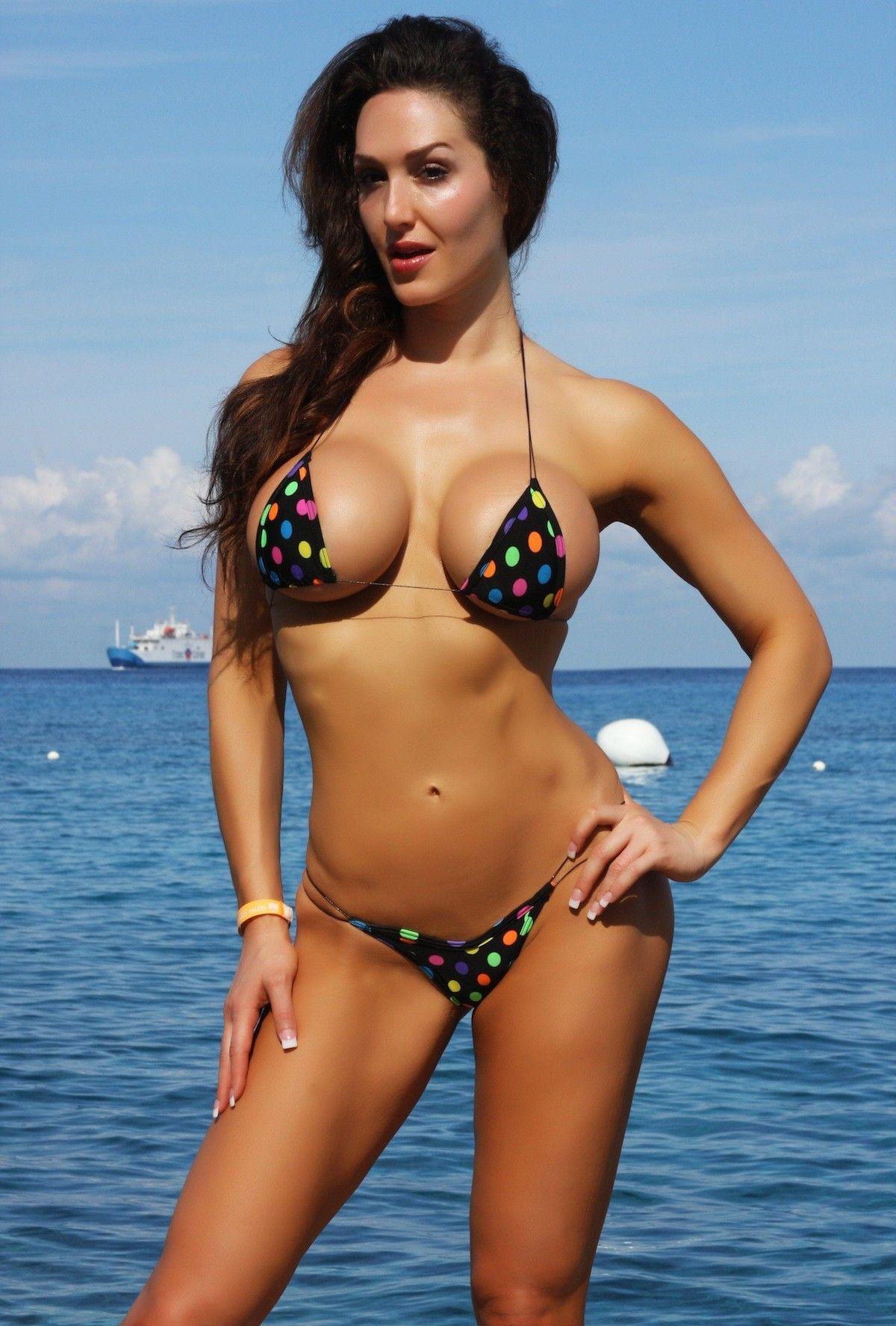 Busty brunettes bikinis